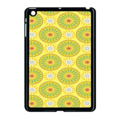 Sunflower Floral Yellow Blue Circle Apple Ipad Mini Case (black) by Alisyart