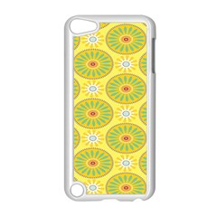Sunflower Floral Yellow Blue Circle Apple Ipod Touch 5 Case (white) by Alisyart