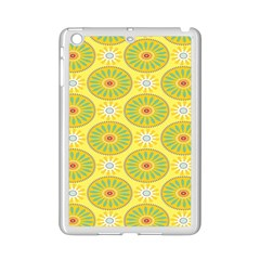 Sunflower Floral Yellow Blue Circle Ipad Mini 2 Enamel Coated Cases