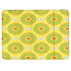 Sunflower Floral Yellow Blue Circle Samsung Galaxy Tab 7  P1000 Flip Case