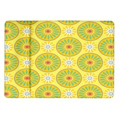 Sunflower Floral Yellow Blue Circle Samsung Galaxy Tab 10 1  P7500 Flip Case