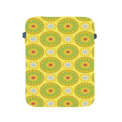 Sunflower Floral Yellow Blue Circle Apple Ipad 2/3/4 Protective Soft Cases by Alisyart