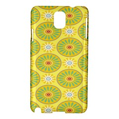 Sunflower Floral Yellow Blue Circle Samsung Galaxy Note 3 N9005 Hardshell Case by Alisyart