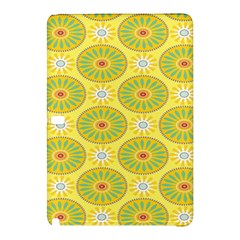 Sunflower Floral Yellow Blue Circle Samsung Galaxy Tab Pro 10 1 Hardshell Case by Alisyart