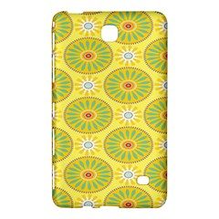 Sunflower Floral Yellow Blue Circle Samsung Galaxy Tab 4 (8 ) Hardshell Case  by Alisyart