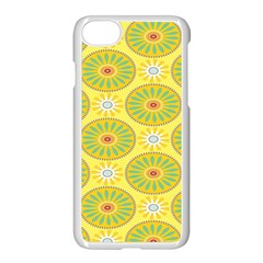 Sunflower Floral Yellow Blue Circle Apple Iphone 7 Seamless Case (white) by Alisyart