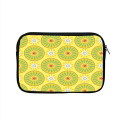 Sunflower Floral Yellow Blue Circle Apple Macbook Pro 15  Zipper Case by Alisyart