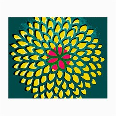 Sunflower Flower Floral Pink Yellow Green Small Glasses Cloth (2-side) by Alisyart