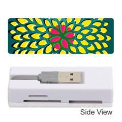 Sunflower Flower Floral Pink Yellow Green Memory Card Reader (stick)  by Alisyart