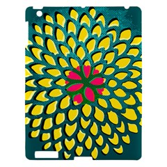 Sunflower Flower Floral Pink Yellow Green Apple Ipad 3/4 Hardshell Case