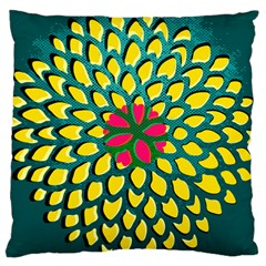 Sunflower Flower Floral Pink Yellow Green Large Cushion Case (one Side) by Alisyart