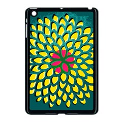 Sunflower Flower Floral Pink Yellow Green Apple Ipad Mini Case (black) by Alisyart