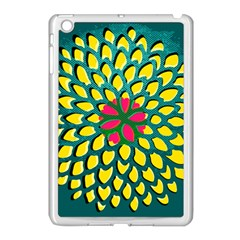 Sunflower Flower Floral Pink Yellow Green Apple Ipad Mini Case (white)