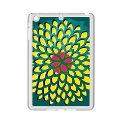Sunflower Flower Floral Pink Yellow Green Ipad Mini 2 Enamel Coated Cases