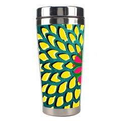 Sunflower Flower Floral Pink Yellow Green Stainless Steel Travel Tumblers by Alisyart