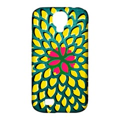 Sunflower Flower Floral Pink Yellow Green Samsung Galaxy S4 Classic Hardshell Case (pc+silicone) by Alisyart