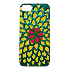 Sunflower Flower Floral Pink Yellow Green Apple Iphone 5s/ Se Hardshell Case by Alisyart