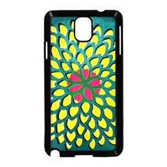 Sunflower Flower Floral Pink Yellow Green Samsung Galaxy Note 3 Neo Hardshell Case (black)
