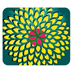 Sunflower Flower Floral Pink Yellow Green Double Sided Flano Blanket (small)  by Alisyart