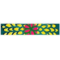 Sunflower Flower Floral Pink Yellow Green Flano Scarf (large)