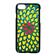 Sunflower Flower Floral Pink Yellow Green Apple Iphone 7 Seamless Case (black) by Alisyart