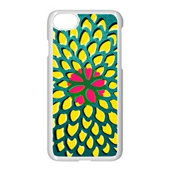 Sunflower Flower Floral Pink Yellow Green Apple Iphone 7 Seamless Case (white) by Alisyart