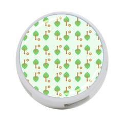 Tree Circle Green Yellow Grey 4 Port Usb Hub (one Side) by Alisyart