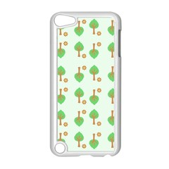 Tree Circle Green Yellow Grey Apple Ipod Touch 5 Case (white)