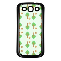 Tree Circle Green Yellow Grey Samsung Galaxy S3 Back Case (black)