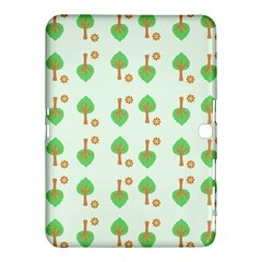 Tree Circle Green Yellow Grey Samsung Galaxy Tab 4 (10 1 ) Hardshell Case  by Alisyart