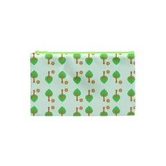 Tree Circle Green Yellow Grey Cosmetic Bag (xs) by Alisyart