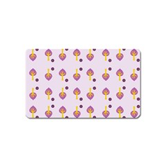Tree Circle Purple Yellow Magnet (name Card)