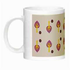 Tree Circle Purple Yellow Night Luminous Mugs by Alisyart