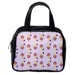 Tree Circle Purple Yellow Classic Handbags (one Side) by Alisyart