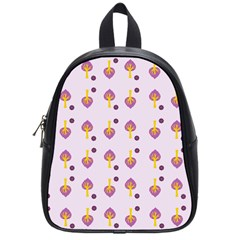 Tree Circle Purple Yellow School Bags (small)  by Alisyart