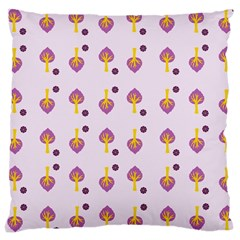 Tree Circle Purple Yellow Large Cushion Case (two Sides)