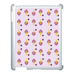 Tree Circle Purple Yellow Apple Ipad 3/4 Case (white) by Alisyart
