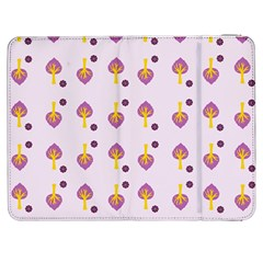 Tree Circle Purple Yellow Samsung Galaxy Tab 7  P1000 Flip Case