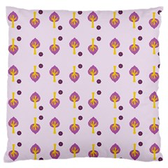 Tree Circle Purple Yellow Large Flano Cushion Case (two Sides)