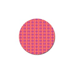 Roll Circle Plaid Triangle Red Pink White Wave Chevron Golf Ball Marker by Alisyart