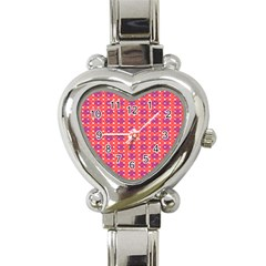 Roll Circle Plaid Triangle Red Pink White Wave Chevron Heart Italian Charm Watch by Alisyart
