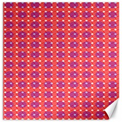 Roll Circle Plaid Triangle Red Pink White Wave Chevron Canvas 12  X 12   by Alisyart