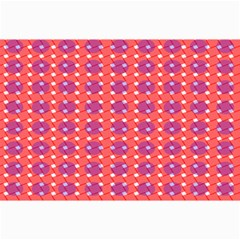 Roll Circle Plaid Triangle Red Pink White Wave Chevron Canvas 12  X 18