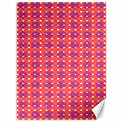 Roll Circle Plaid Triangle Red Pink White Wave Chevron Canvas 36  X 48
