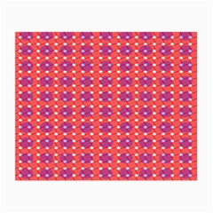 Roll Circle Plaid Triangle Red Pink White Wave Chevron Small Glasses Cloth (2 Side)