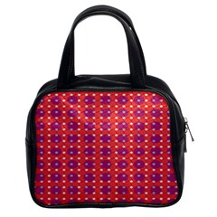 Roll Circle Plaid Triangle Red Pink White Wave Chevron Classic Handbags (2 Sides)
