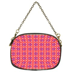 Roll Circle Plaid Triangle Red Pink White Wave Chevron Chain Purses (one Side)  by Alisyart