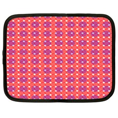 Roll Circle Plaid Triangle Red Pink White Wave Chevron Netbook Case (xl)  by Alisyart