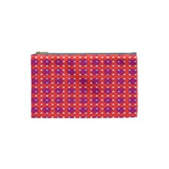 Roll Circle Plaid Triangle Red Pink White Wave Chevron Cosmetic Bag (small)  by Alisyart