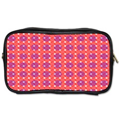 Roll Circle Plaid Triangle Red Pink White Wave Chevron Toiletries Bags by Alisyart
